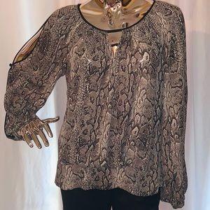 BCBG Snake print blouse